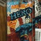 Six Flags Magic Mountain DC Superman American Hero Acrylic Keychain New