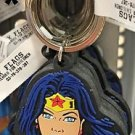 Six Flags Magic Mountain DC Justice League Wonder Woman Face Rubber Keychain New