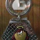 Six Flags Magic Mountain Looney Tunes Tasmanian Devil Octagon Metal Keychain New