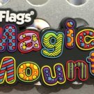 Six Flags Magic Mountain Multi Color Flags and Lettering Rubber Magnet New