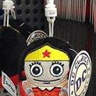 Six Flags Magic Mountain DC Justice League Wonder Woman Fat Plush Keychain New