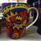 Six Flags Magic Mountain DC Batman Kapow Ceramic Mug New