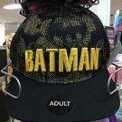 Six Flags Magic Mountain DC Batman Overlay Mesh Adjustable Snapback Hat Cap New