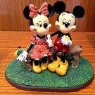 Disney Parks Puppy Love Mickey Minnie Mouse Figure Figurine NEW