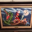 Disney Parks Hook, Time and Tinker LE Giclee on Canvas by Daniel Killen New
