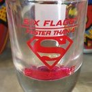 Six Flags Magic Mountain DC Superman Faster Than a Speeding Bullet Shot GlassNew