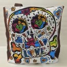 DISNEY PARKS DAY OF THE DEAD SKULL ART TOTE BAG NEW WITH TAGS