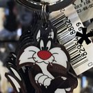 Six Flags Magic Mountain Looney Tunes Sylvester Cat Keyring Keychain New