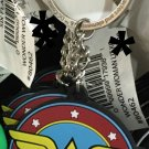 Six Flags Magic Mountain DC Justice League Wonder Woman Logo Rubber Keychain New