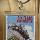 Six Flags Magic Mountain Twisted Colossus Clear Acrylic Keyring Keychain New