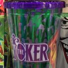 Six Flags Magic Mountain DC The Joker Travel Tumbler Mug Cup with Straw New