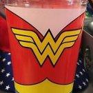 Six Flags Magic Mountain DC Wonder Woman Logo Travel Mug Flip Top Cup New