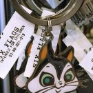 Six Flags Magic Mountain Looney Tunes Pussyfoot Cat Keyring Keychain New