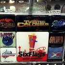 Six Flags Magic Mountain Mini Magnets Set 8 Pieces Magnet New