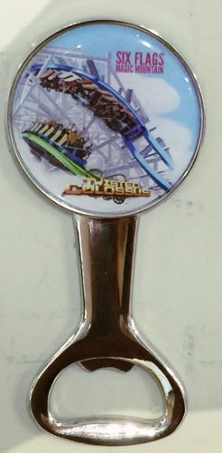 Six Flags Magic Mountain Twisted Colossus Bottle Opener / Magnet New