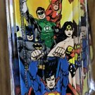 Six Flags Magic Mountain Justice League Superman Wonder Woman Acrylic Keychain