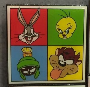 Six Flags Magic Mountain Looney Tunes Bugs Bunny Marvin the Martian Magnet New