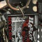 Six Flags Magic Mountain DC Villains Harley Quinn Metal Keyring Keychain New