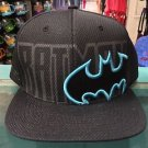 Six Flags Magic Mountain DC Batman Blue Logo Adjustable Snapback Hat Cap New