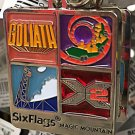 Six Flags Magic Mountain Goliath Full Throttle X2 Viper Stained Glass Keychain