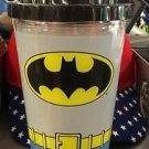 Six Flags Magic Mountain DC Batman Logo Travel Mug Flip Top Cup New with Tags