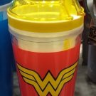 Six Flags Magic Mountain DC Wonder Woman Logo 2 in 1 Food/Drink Combo Travel Cup