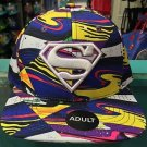 Six Flags Magic Mountain Superman Swirl Color Adjustable Snapback Hat Cap New