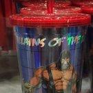 Six Flags Magic Mountain DC Bane Villain Guys Travel Tumbler with Straw Mug New