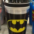 Six Flags Magic Mountain DC Batman Logo 2 in 1 Food/Drink Combo Travel Cup New