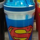 Six Flags Magic Mountain DC Superman Logo 2 in 1 Food/Drink Combo Travel Cup New