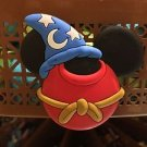 DISNEY PARKS EXCLUSIVE MICKEY MOUSE EAR MAGNET WITH SORCERER HAT & ROB NEW