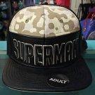 Six Flags Magic Mountain Superman Camo Split Adjustable Snapback Hat Cap New