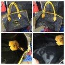 Six Flags Magic Mountain DC Batman Bat Logo Emb Appliqué Duffle Bag New