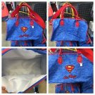 Six Flags Magic Mountain DC Superman Shield Logo Emb Appliqué Duffle Bag New