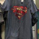 Six Flags Magic Mountain Vintage Superman Gray T-Shirt SIZE S,M,L XL,XXL New