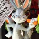 Six Flags Magic Mountain Looney Tunes Bugs Bunny Figure Keychain New