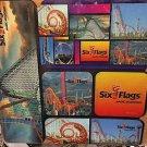 Six Flags Magic Mountain Vinyl Magnet Set New