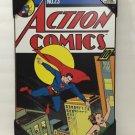DC COMICS ACTION COMICS SUPERMAN WOOD PLAQUE 13X19 NEW