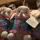 """Disney Parks Dumbo Baby Disney Babies Plush Doll Toy with Blanket 10"""" H (NEW)"""