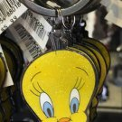 Six Flags Magic Mountain Looney Tunes Tweety Bird Glitter Keyring Keychain New