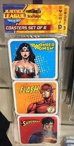 Six Flags Magic Mountain Justice League Wonder Woman Flash Superman Coasters New