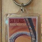 Six Flags Magic Mountain The New Revolution Clear Acrylic Keyring Keychain New