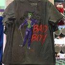 Six Flags Magic Mountain DC Comics Harley Quinn I Heart My Bad Boy Gray Shirt