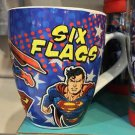 Six Flags Magic Mountain DC Superman Funnel Ceramic Mug New