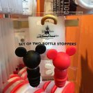 Disney Parks Mickey Mouse Ear Red Black Set of 2 Bottle Stoppers New
