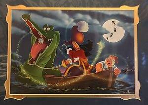 Disney Parks Captain Hook Hook, Time and Tinker Deluxe Print Daniel Killen New
