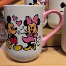 DISNEY PARKS CUTIE CARTOON MICKEY AND MINNIE MOUSE CERAMIC MUG CUP NEW