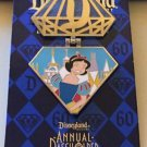 Disneyland 60th DIAMOND CELEBRATION Snow White Annual Passholder Disney LE Pin