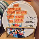 "Disney Parks Exclusive Attraction Poster Plate It's A Small World 7"" Plate New"