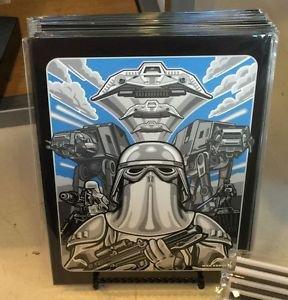Disney WonderGround Gallery Star Wars Empire Strike Postcard by Max Grundy New